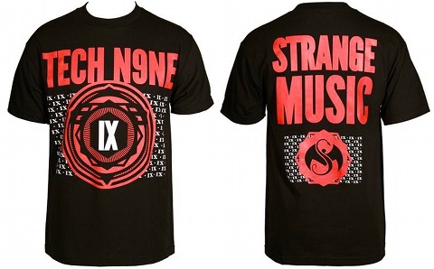 Tech N9ne - Black Roman Wallpaper T-Shirt