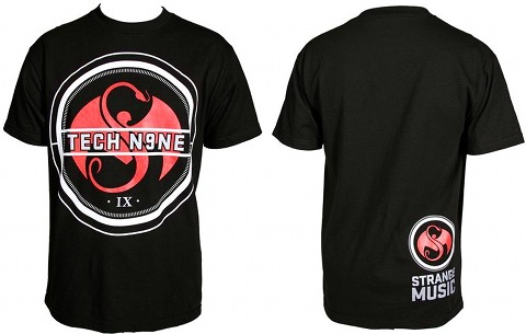 Tech N9ne - Black StrikeThru T-Shirt