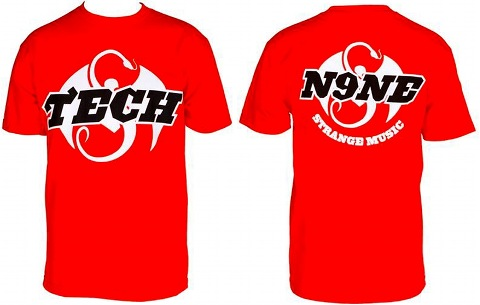 Tech N9ne - Red 50/50 T-Shirt
