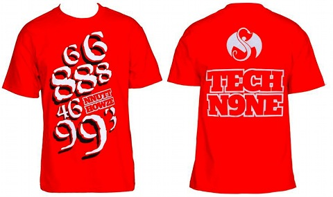 Tech N9ne - Red Nnutthowze T-Shirt