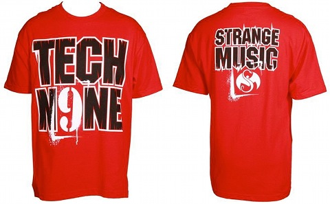 Tech N9ne - Red Stencil T-Shirt