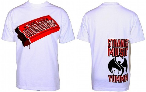 Tech N9ne - White Klusterfuk Candy Bar T-Shirt