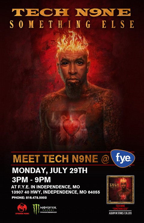 tech n9ne � �something else� instore signing at fye in