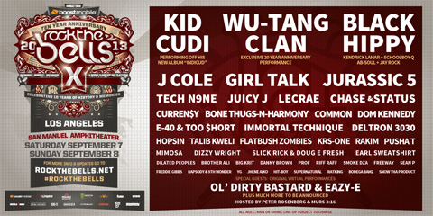 Rock The Bells 2013 Music Festival Adds New Artists To Line Up!