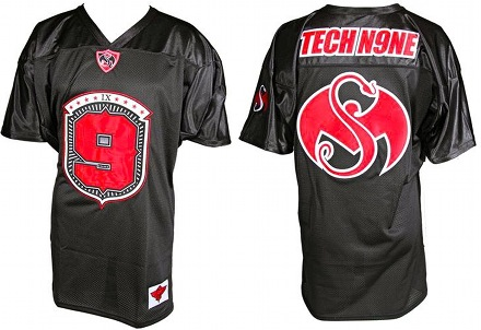Tech N9ne - Black Football Jersey 2013