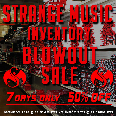 Strange Music Inventory Blowout Sale