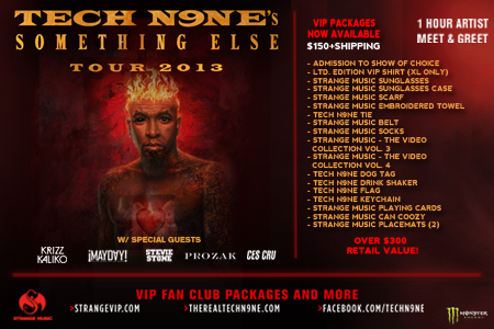 Tech N9ne – Something Else Tour – Tickets And VIP Packages Now Available