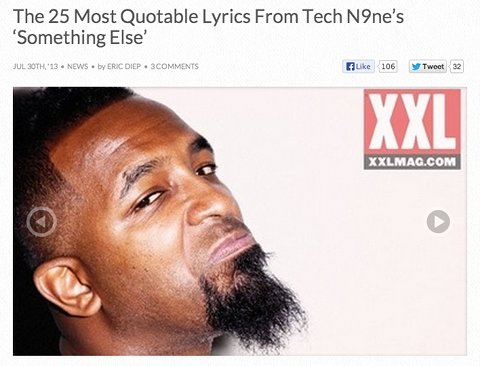 Tech N9ne Quotable Lines XXL
