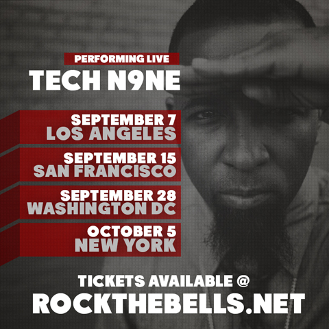 Tech N9ne Rock The Bells Admat