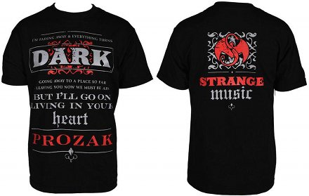 Prozak - Black Dark Heart T-Shirt