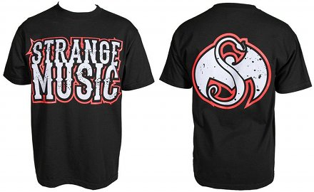 Strange Music - Black Redline T-Shirt