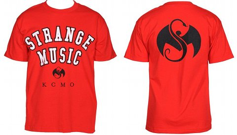 Strange Music - Red Collegiate T-Shirt