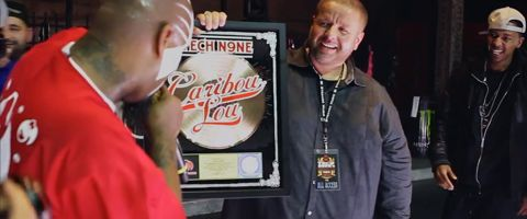 Tech N9ne Gold Plaque Presentation
