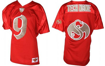 Tech N9ne Red Football Jersey 2012