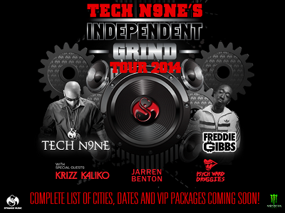 ANNOUNCEMENT: Tech N9ne Independent Grind Tour 2014