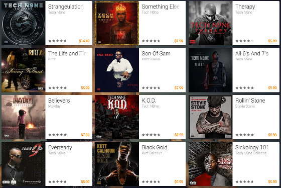 Google Play Strange Music Sale