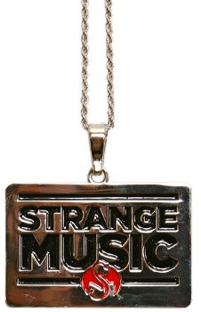 Strange Music Chrome Rectangle Pendant