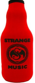 Strange Music Red Bottle Coozie