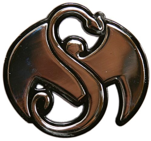 Strange Music Silver Stick On Emblem