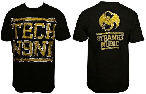 Tech N9ne Black Gold Print T-Shirt