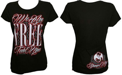 Tech N9ne Black We Are Free Ladies T-Shirt