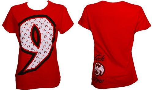 Tech N9ne Red IX Ladies T Shirt