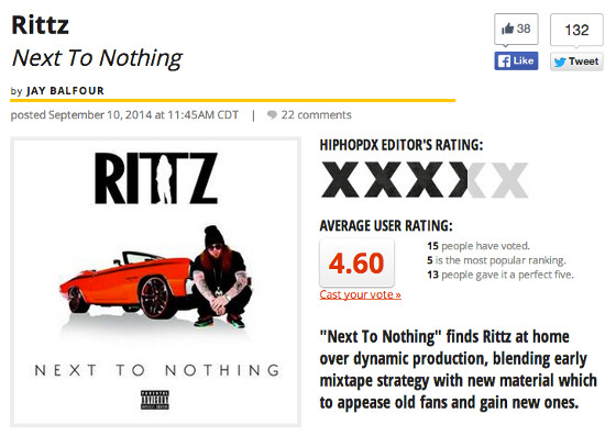 HipHopDX Rittz Next To Nothing Review