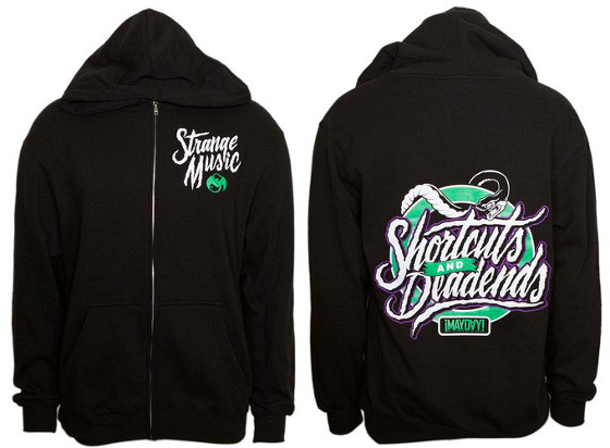 Mayday Black Shortcuts And Deadends Zip Hoodie