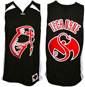 Tech N9ne - Black Facepaint Basketball Jersey