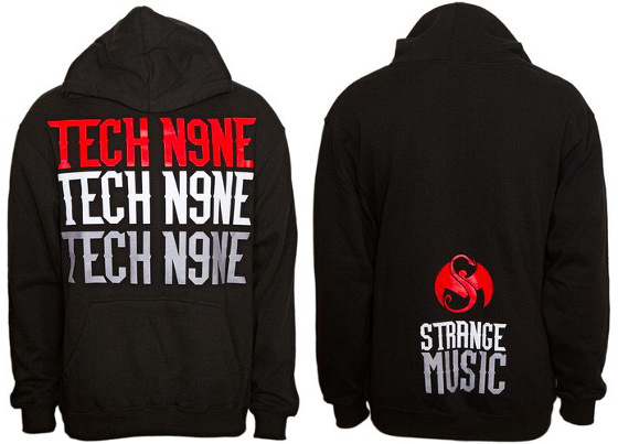 Tech N9ne - Black Stacked Hoodie