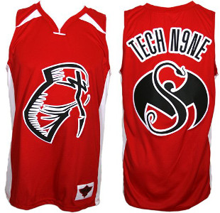 Tech N9ne Red Facepaint Basketball Jersey