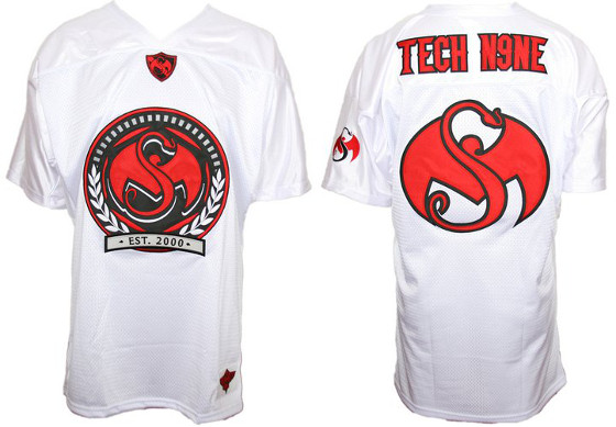 Tech N9ne - White Roman Football Jersey