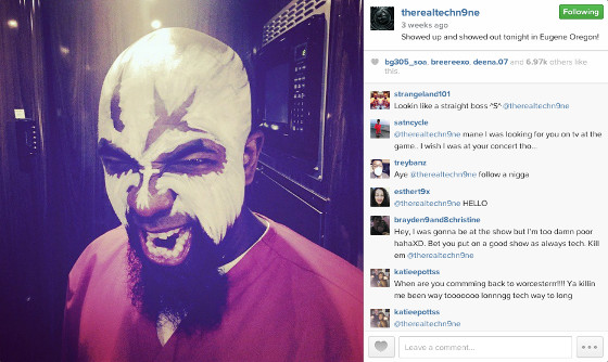Tech N9ne Instagram Pic