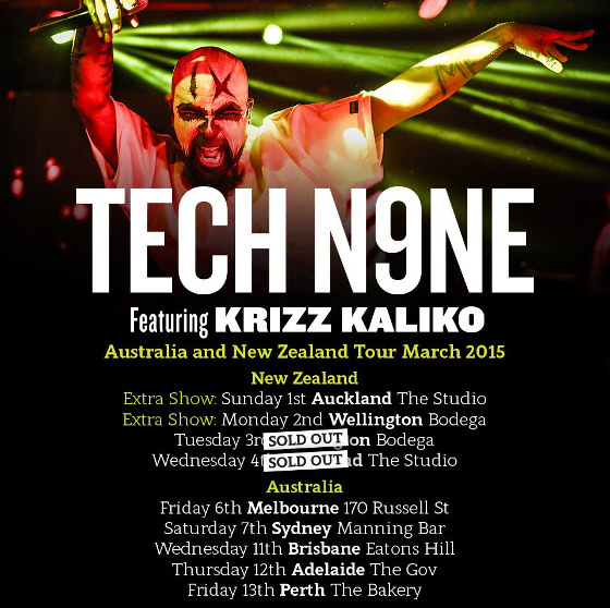 Tech N9ne Updated Australia Update