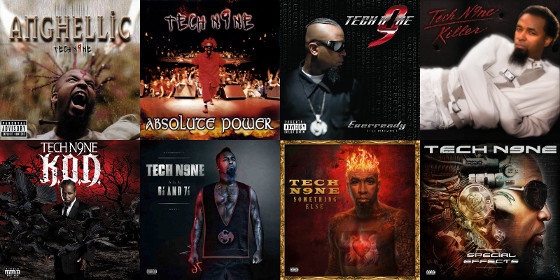 Tech N9ne Album Covers