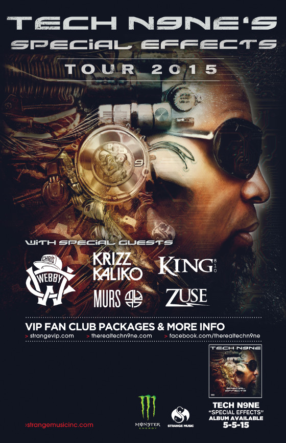 Tech N9ne Special Effects Tour Admat Blog