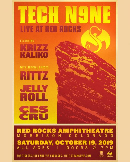 ANNOUNCEMENT: Tech N9ne Returns To Red Rocks October 19th!